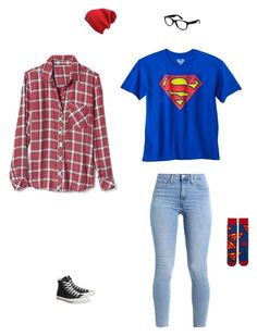 """Kara Danvers"" by bvbyaria on Polyvore featuring Gap, Converse and Ray-Ban"