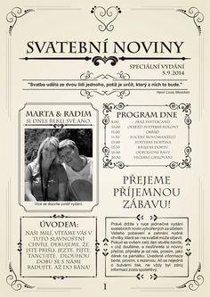 Svatební noviny (10 výtisků A4) / Zboží prodejce W-day | Fler.cz