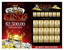 Scratch Off Game $2,500.00 King's Crown of Cash