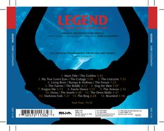 Legend OST CD inlay. Client: Silva Screen Records. Circa 2002. © Sean Mowle.