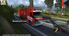 Euro Truck Simulator 2 Volvo FH 2012 Ferrari Skin + Trailer
