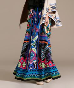 Look at this Blue & Purple Abstract Maxi Skirt on #zulily today!