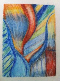 abstract oil pastel