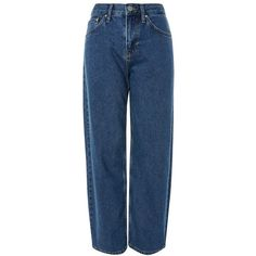 Women's Topshop Boutique Blue '90S Baggy Fit Jeans ($100) ❤ liked on Polyvore featuring jeans, blue, rock jeans, blue jeans, blue colour jeans, topshop jeans and baggy jeans