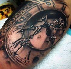 3D Uhr Arm Tattoo gross
