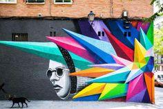 Share your graffiti and Street Art here. Graffiti Art, Murals Street Art, 3d Street Art, Urban Street Art, Amazing Street Art, Art Mural, Street Artists, Urban Art, Land Art