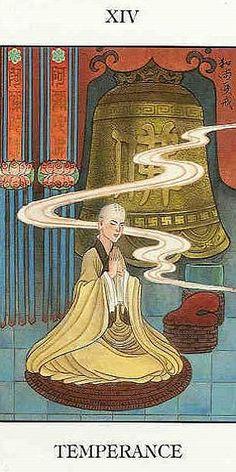 XIV. Temperance - Chinese Tarot by Jui Guoliang
