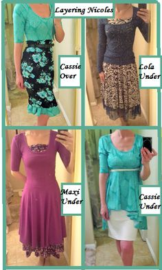 Look at the versitility of the LuLaRoe Nicole! So many fun looks, using other LuLaRoe styles as a compliment. Lula Outfits, Diy Outfits, Lularoe Dresses, Lularoe Clothes, New Wardrobe, Skirt Fashion, Style Me, Style Inspiration, Style Ideas