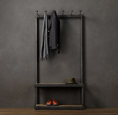 minimalist coat rack & bench