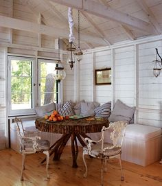 """This is the cottage dining area of my friend and mentor Youssef Hasbani.  """"The Master of the Mix"""" 