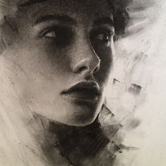 Instagram media by caseybaugh - Detail view of recent charcoal ➰ #art #charcoal #textures ( model - @oliviakthornton )
