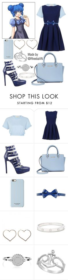 """""""Corina Bucksworth 1 (Mew Mew Power)"""" by rheebavn ❤ liked on Polyvore featuring Mew., River Island, Luichiny, Michael Kors, Isaac Mizrahi, Viktor & Rolf, Cartier and Marc by Marc Jacobs"""