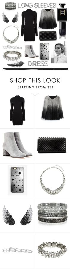 """Black"" by jumainakmir ❤ liked on Polyvore featuring adidas Originals, Chicwish, Gianvito Rossi, Christian Louboutin, Rianna Phillips, John Lewis, AS29, Bernard Delettrez, Kendra Scott and Ben-Amun"