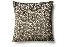 Zoe 17x17 Cotton-Blended Pillow, Gray on OneKingsLane.com