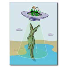 Alien Abduction Trauma Postcard