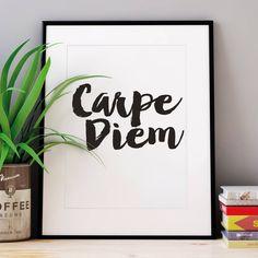 'Carpe Diem' Inspirational Typography Print