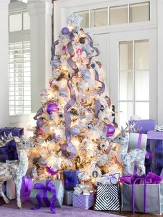 Trim the Tree With Lavender, Plum + Silver