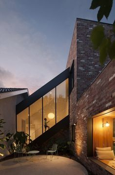 27 Ideas For House Architecture Facade Glasses Architecture Design, Stairs Architecture, Beautiful Architecture, Contemporary Architecture, Online Architecture, Architecture Portfolio, Contemporary Style, Clare Cousins, External Staircase
