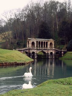 Prior Park, Bath, England.  The garden is set in a sweeping valley where visitors can enjoy magnificent views of Bath. Restoration of the 'Wilderness' has reinstated the Serpentine Lake, Cascade and Cabinet.  I had forgotten how beautiful this place is :) x