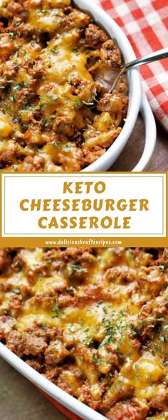 Kraft Recipes, Beef Recipes, Cooking Recipes, Hamburger Recipes, Keto Casserole, Casserole Recipes, Hamburger Dishes, Cheeseburger Casserole, Cooking
