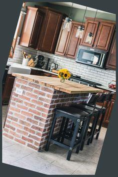 Designing a Kitchen Remodel That Will Last #DIY #Brick #Kitchen #Island #Scenes #Kitchen #Renovation #Jelly #Toast... Cheap Kitchen Remodel, Cupboard Doors, Jelly, Kitchen Island, Kitchen Design, Brick, Toast, Diy, Home Decor