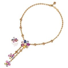 18 Karat Gold, Colored Stone and Diamond Necklace and Ring, Bulgari   Lot   Sotheby's