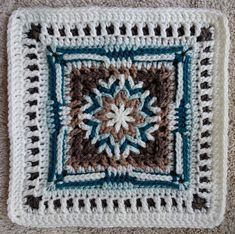 Ravelry: ccdoug's Tristan for Sophie Loves Lilla Blanket Crochet Lace Edging, Crochet Borders, Crochet Mandala, Diy Crochet, Crochet Crafts, Crochet Stitches, Crochet Squares Afghan, Crochet Blocks, Granny Squares
