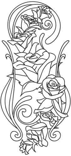 Rose Nouveau   Urban Threads: Unique and Awesome Embroidery Designs