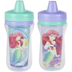 The First Years Disney Insulated Sippy Cup, Ariel, 9 Ounce (335 MXN) ❤ liked on Polyvore featuring baby girl and sippy cup