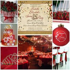 Feliz #Navidad | #Christmas Themed #Quinceanera Sweet Fifteen | Quince Candles
