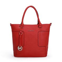 60a339cb9886 Michael Kors Jet Set Logo Large Red Satchel Michael Kors Handbags Outlet