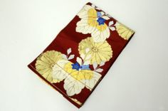 Japanese SILK FUKURO OBI Red Base color, Kin shi no Kiku, Aoi