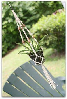 Tiffany- A Petite Handmade Cotton Cord Macrame Plant Hanger, Hanging Basket by Macramaking- Natural Macrame Plant Hangers, via Flickr
