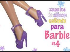 Zapatos de silicon caliente para barbie#4 - YouTube Barbie Dolls Diy, Diy Barbie Clothes, Barbie Shoes, Doll Shoes, Diy Doll, Doll Closet, Barbie Patterns, Barbie Accessories, Kinds Of Shoes