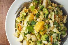 Crunchy Thai Chicken Salad - I like to arm myself with lots of low calorie tasty salad and veggie dishes for lunches and dinner to balance out all the sugar.