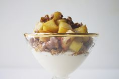 Apple Pie Parfait... because it's absolutely ok to have a little dessert for breakfast.
