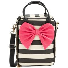 Betsey Johnson IInsulated Leatherette Bow Lunch Tote found on Polyvore