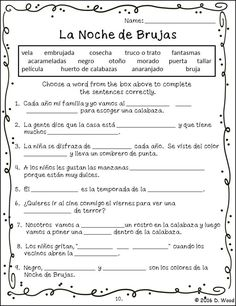 Bilingual Spanish/ English reading on the celebration of Halloween. It includes a total of 15 worksheets that focus of reading, writing, vocabulary, grammar and more.