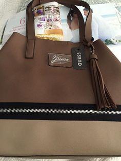 Guess handbag Purse JAMIYA Shoulder Bag Brown Multi 100% Authentic NEW$145