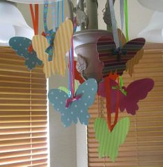 Hanging butterfly decorations .50