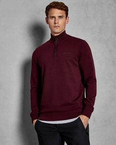 Explore men's tops in Ted's outlet range, showing off stylish tees to smart polo shirts from previous seasons to top off any look with finesse. Ted Baker Stores, Designer Clothes For Men, Purple Tops, Deep Purple, British Style, Mens Sweatshirts, Men Sweater, Man Shop, Fashion Outfits