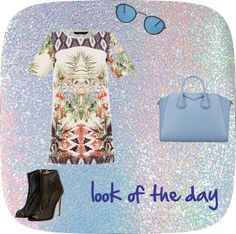"""""""look of the day PRINT DRESS"""" by bucci-giuseppina on Polyvore"""