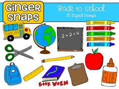 Back to School Clip Art set