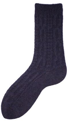 Women's Wool + Cashmere Trouser Chunky Cable Socks