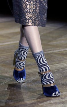 Heels with socks - Playing Favourites from Fall 2011 Paris Collections