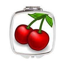 Cherries Square Compact Mirror