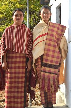 Khasi women from Mustoh village in traditional attire