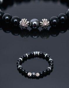 0c84cb1c34bd Accessories    Bracelets    Hematite Onix Mono Beads-Bracelet 354 - Mens  Fashion Clothing For An Attractive Guy Look. Chantad Prasertsil · Chrome  Hearts