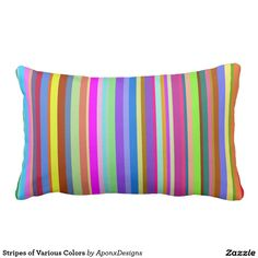 Rest your head on one of Zazzle's Colorful decorative & custom throw pillows. Lumbar Pillow, Color Patterns, Decorative Throw Pillows, Stripes, Colorful, Design, Decorative Pillows, Colour Pattern, Design Comics