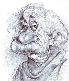 Albert Einstein (Caricature) Artist: Jan Op De Beeck - http://dunway.com/